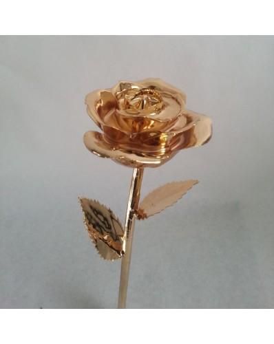 Rose naturelle dorée à l'or fin 24k