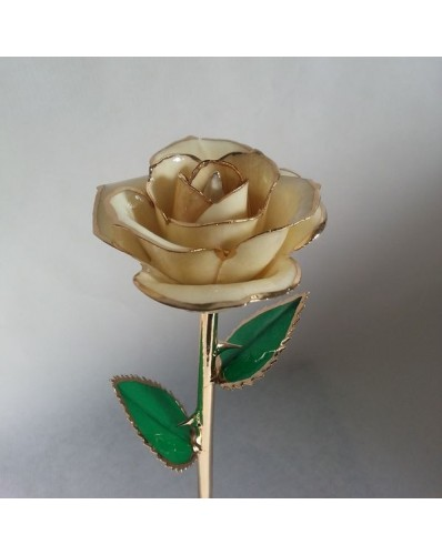 Rose bleue et or 24k