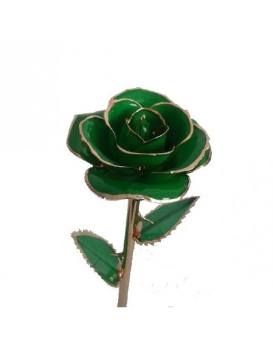 Rose verte 24k