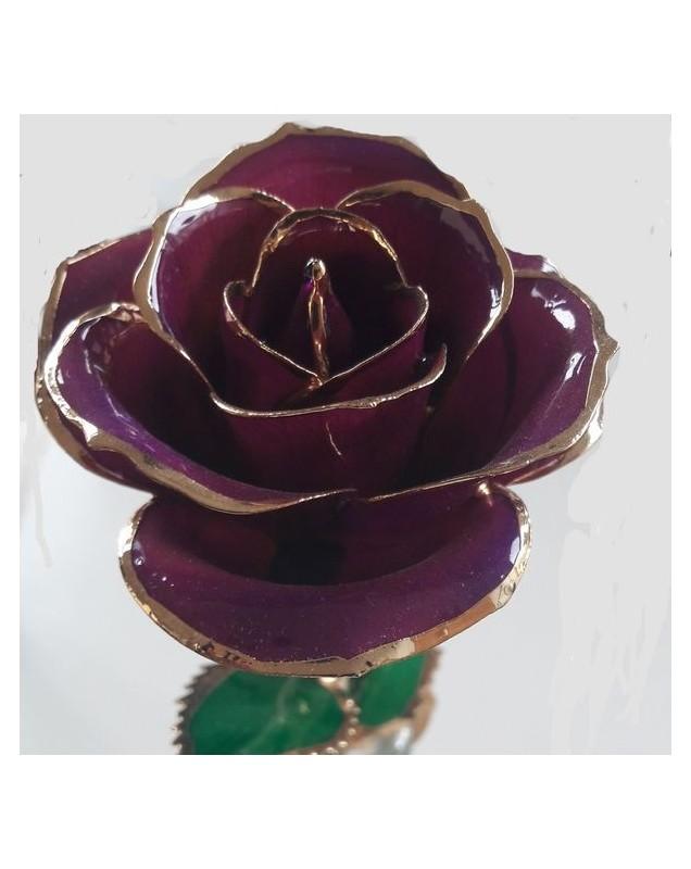Rose or 24k couleur violette