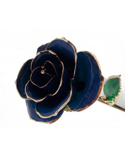 Rose en or 24k bleue