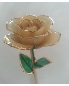 Rose en or 24k couleur blanche
