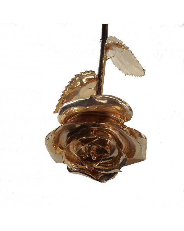 Rose éternelle plaquée or