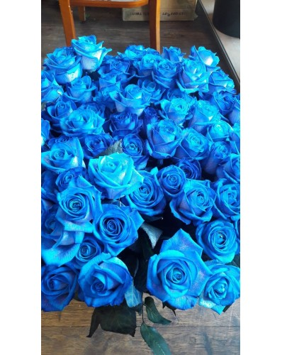 20 roses bleues